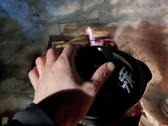 土鍋ですき焼き (30)