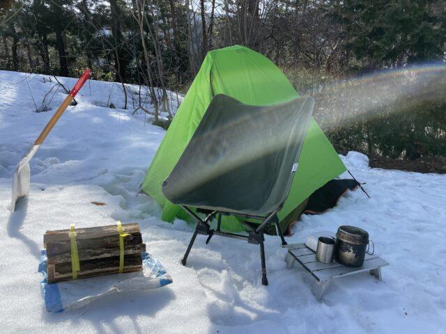 キャンプ2連泊2日目の朝