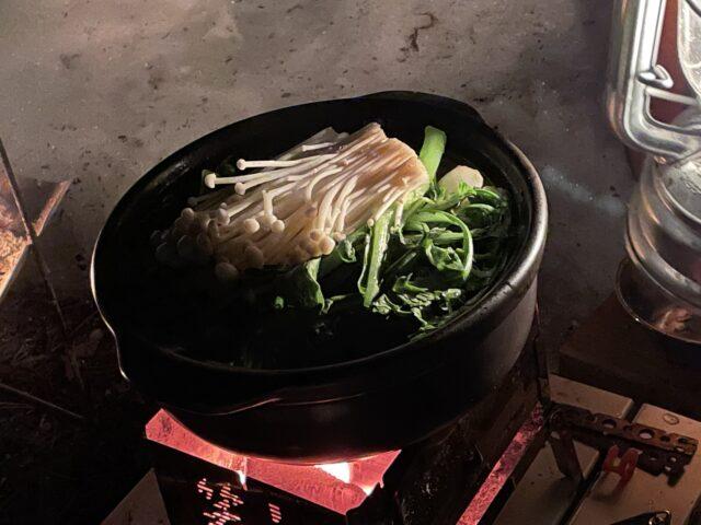 土鍋ですき焼き (18)