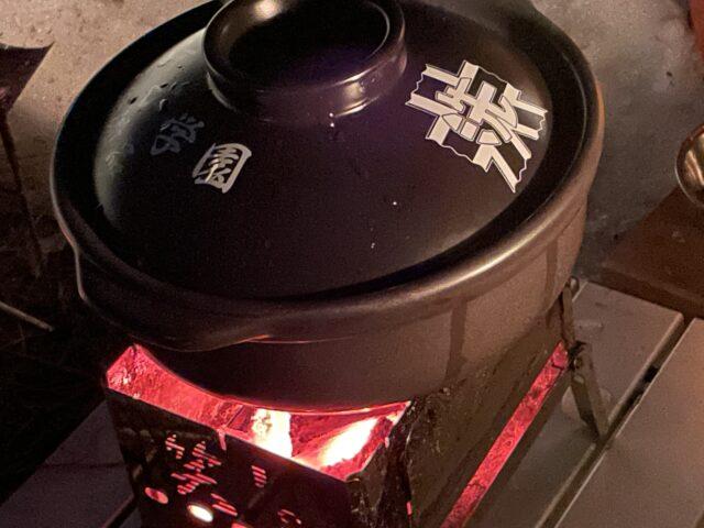 土鍋ですき焼き (8)