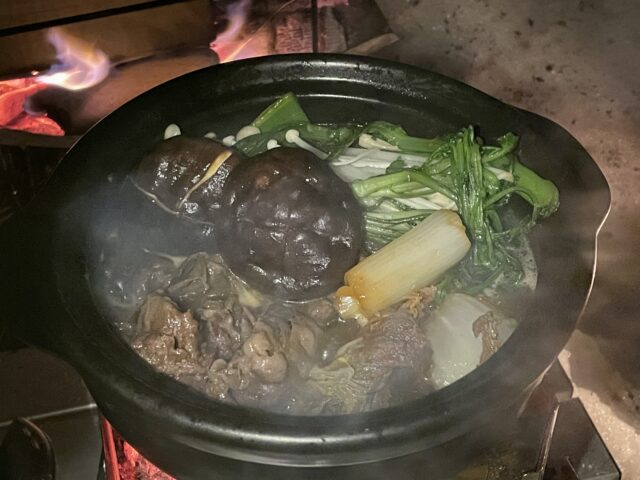 土鍋ですき焼き (19)