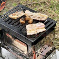 笑'sコンパクト焚火グリルを使って1人焼肉を堪能したデイキャンプ!