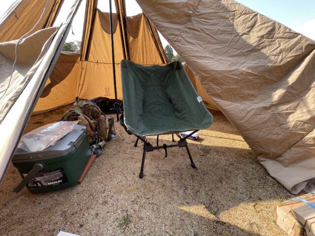 初春ソロキャンプの道具達