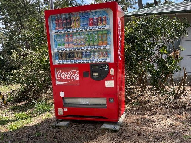 大島キャンプ場自販機
