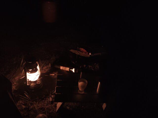 DDハンモックソロキャンプ夜 (8)