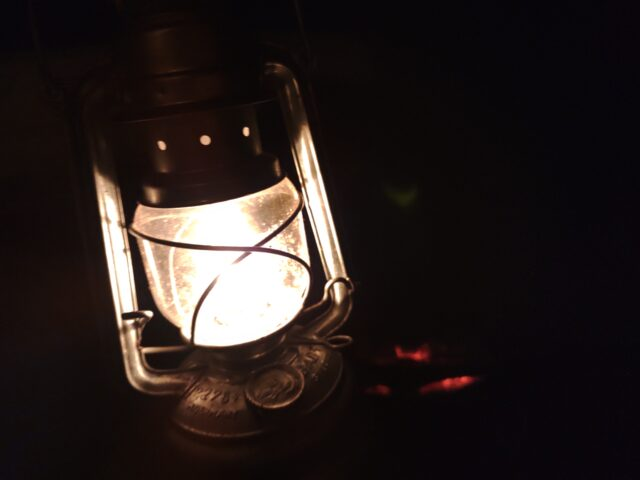 DDハンモックソロキャンプ夜 (7)