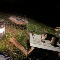 夏のソロキャンプで焚き火と日本酒!雨の中のDDハンモック泊!