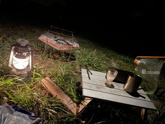 DDハンモックソロキャンプ夜 (15)