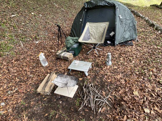 相倉キャンプ場でソロキャンプ (6)