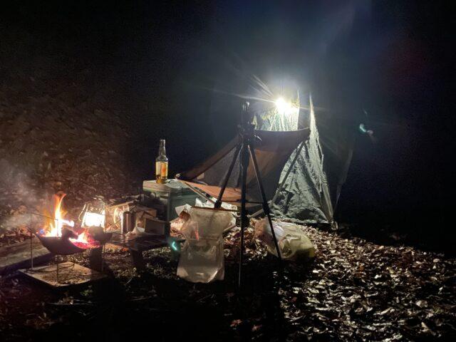 相倉キャンプ場でソロキャンプ (27)